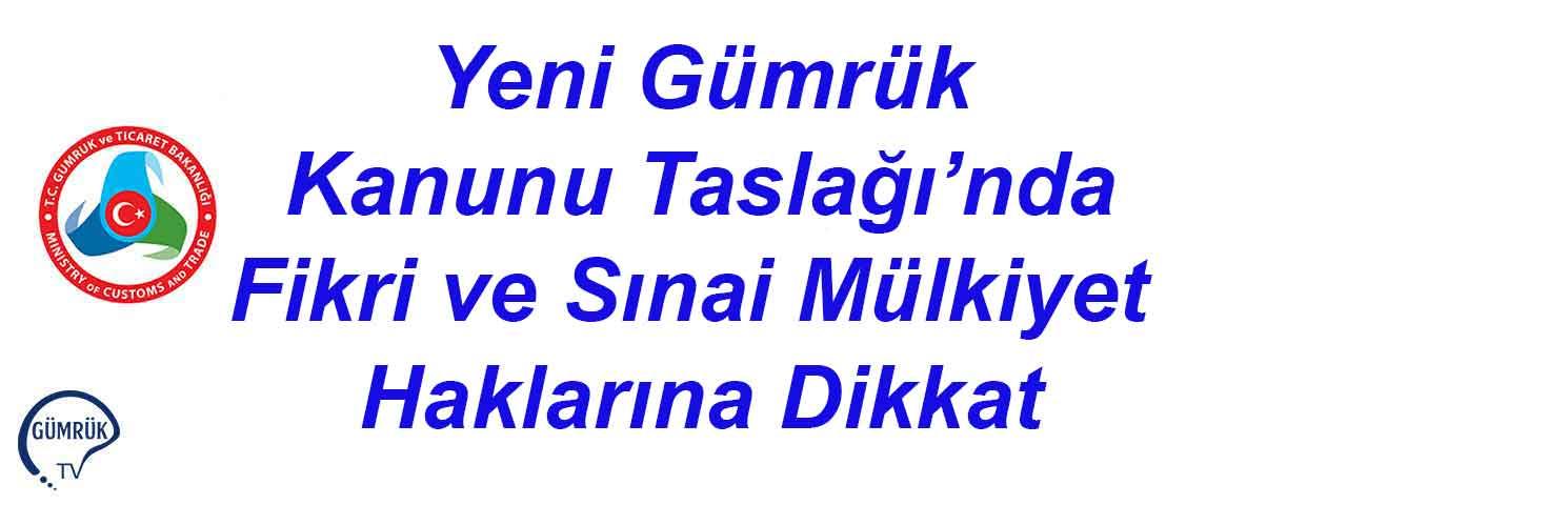 Yeni Gümrük Kanunu Taslağı'nda Fikri ve Sınai M...