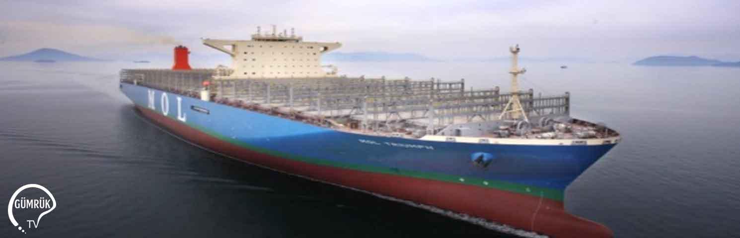 Dünyanın En Büyük Konteyner Gemisi M/V MOL TRIUMPH, Mitsui OSK Lines'a Teslim Edildi
