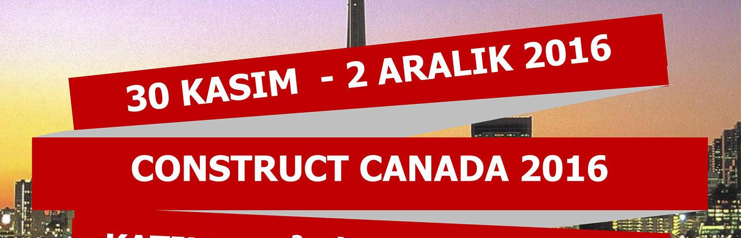 Construct Canada Fuarı Başvuruları Başladı