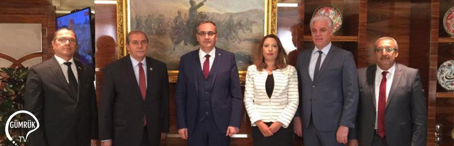 Gümrük Müşavirleri Dernekleri Yönetim Kurulu Başkanları, Gümrük ve Ticaret Bakanlığına Ziyarette Bulundu