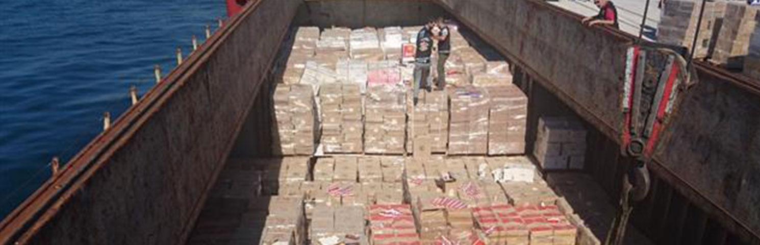 450 Bin Paket Kaçak Sigara Yakalandı