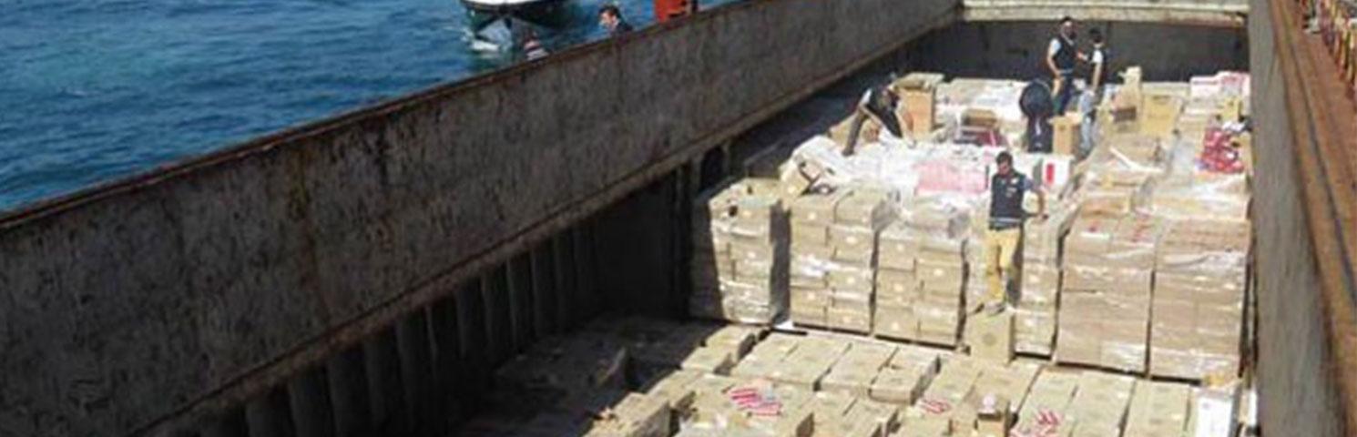 100 Ton Kaçak Sigara Yakalandı