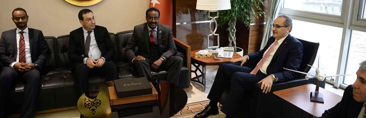 Müsteşar Aşcı, Somali Ticaret Ve Sanayi Bakanlığı Müsteşarı Dahi İle Bir Araya Geldi