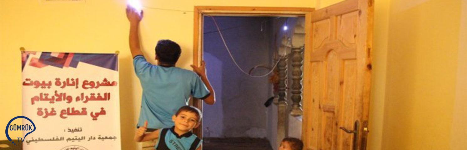 Gazzeli 200 Aileye TİKA'dan Led Aydınlatma Sistemi Desteği