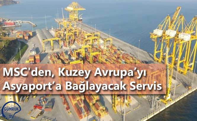 MSC'den, Kuzey Avrupa'yı Asyaport'a Bağlayacak Servis