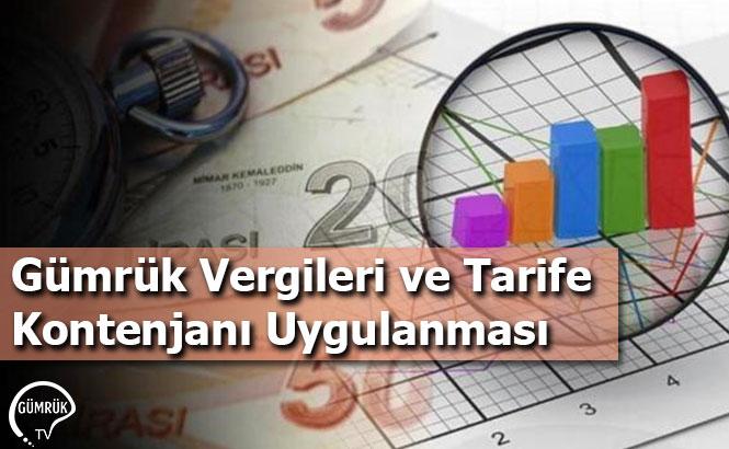 Gümrük Vergileri ve Tarife Kontenjanı Uygulanması