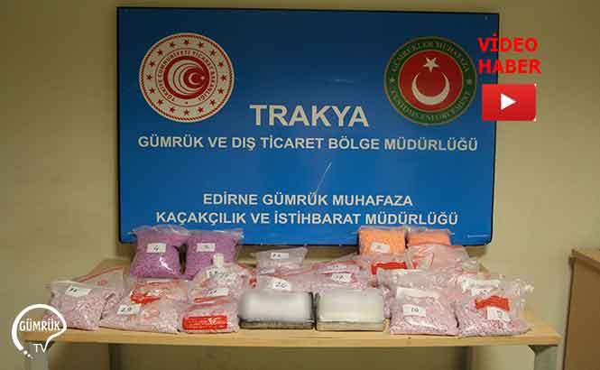 Edirne'de Gerçekleştirilen Operasyonda 135 Bin Uyuşturucu Hap ve 2 Kilo Kokain Ele Geçirildi