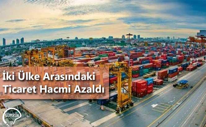 İki Ülke Arasındaki Ticaret Hacmi Azaldı