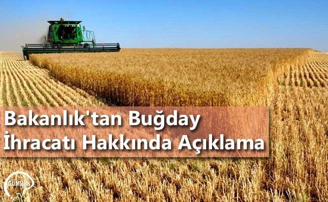 Bakanlık'tan Buğday İhracatı Hakkında Açıklama