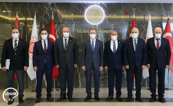 ATO Heyeti, Ticaret Bakanı Mehmet Muş'u Ziyaret Etti