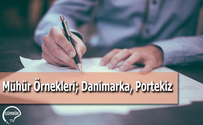 Mühür Örnekleri; Danimarka, Portekiz