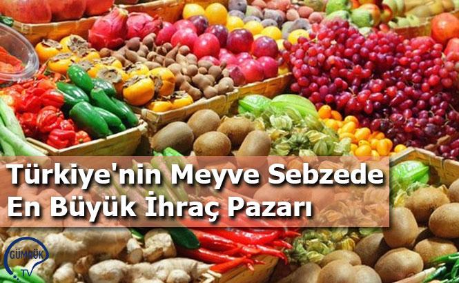 Türkiye'nin Meyve Sebzede En Büyük İhraç Pazarı