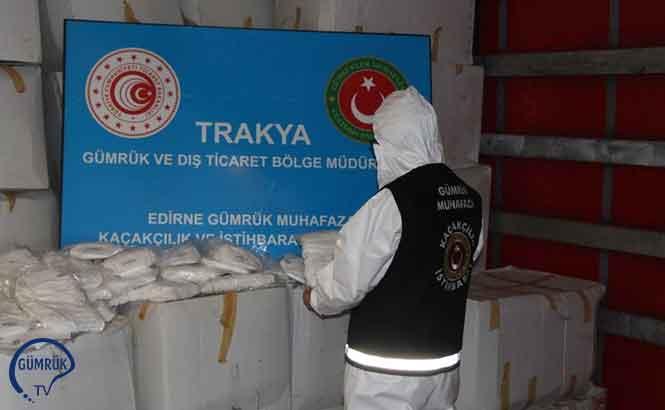 Kapıkule'de 573 Bin 750 Adet Tıbbi Maske Ele Geçirildi