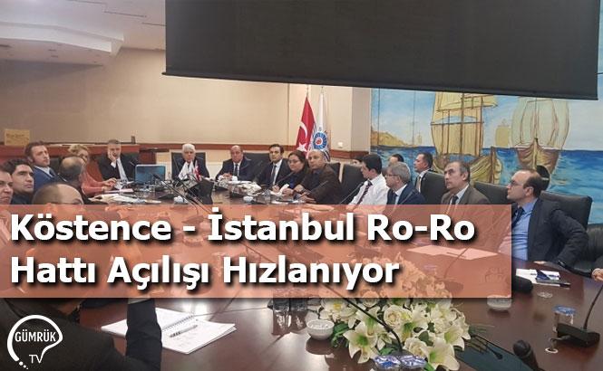 Köstence - İstanbul Ro-Ro Hattı Açılışı Hızlanıyor