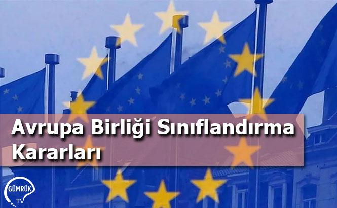 Avrupa Birliği Sınıflandırma Kararları