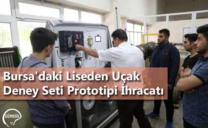 Bursa'daki Liseden Uçak Deney Seti Prototipi İhracatı