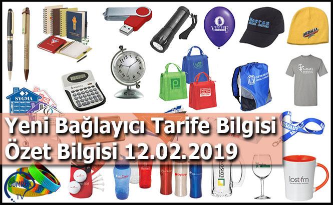 Yeni Bağlayıcı Tarife Bilgisi Özet Bilgisi 12.02.2019