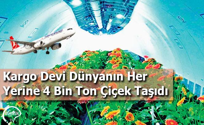 Kargo Devi Dünyanın Her Yerine 4 Bin Ton Çiçek Taşıdı