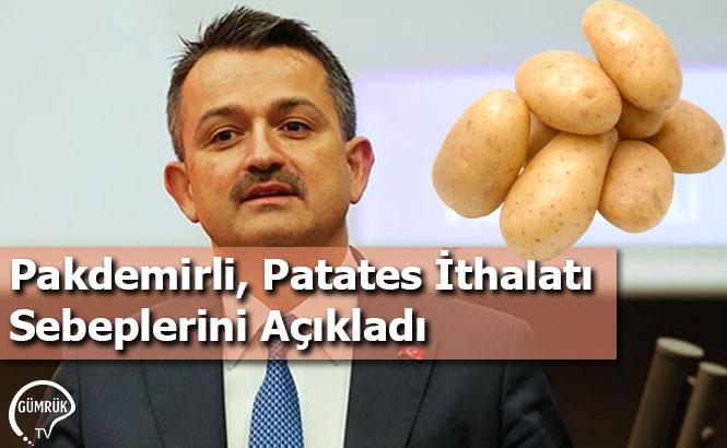 Pakdemirli, Patates İthalatı Sebeplerini Açıkladı