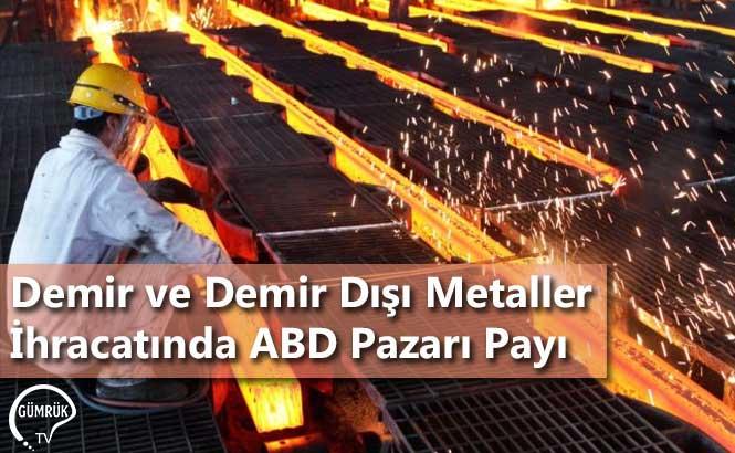 Demir ve Demir Dışı Metaller İhracatında ABD Pazarı Payı