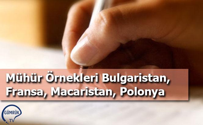 Mühür Örnekleri Bulgaristan, Fransa, Macaristan, Polonya