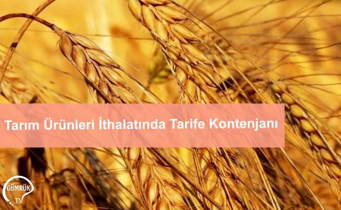 Tarım Ürünleri İthalatında Tarife Kontenjanı