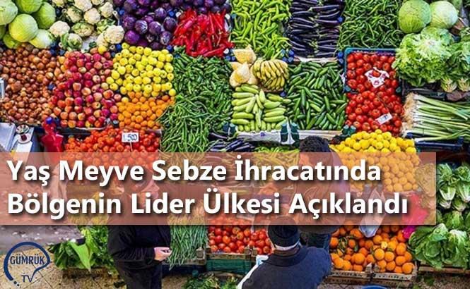 Yaş Meyve Sebze İhracatında Bölgenin Lider Ülkesi Açıklandı
