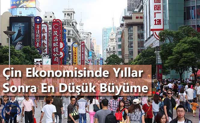 Çin Ekonomisinde Yıllar Sonra En Düşük Büyüme