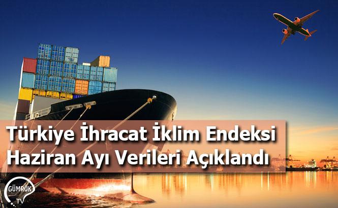 Türkiye İhracat İklim Endeksi Haziran Ayı Verileri Açıklandı