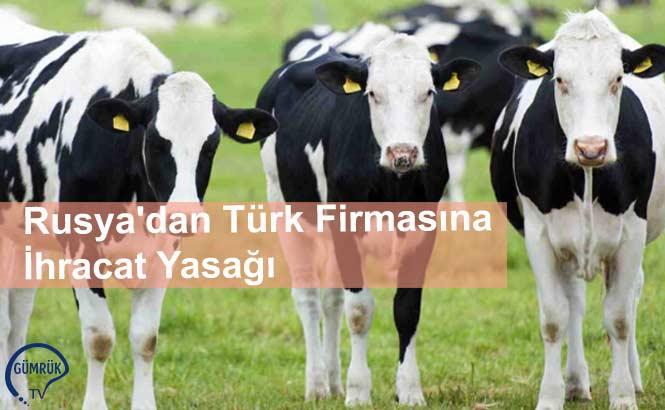 Rusya'dan Türk Firmasına İhracat Yasağı