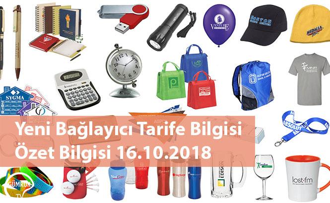 Yeni Bağlayıcı Tarife Bilgisi Özet Bilgisi 16.10.2018