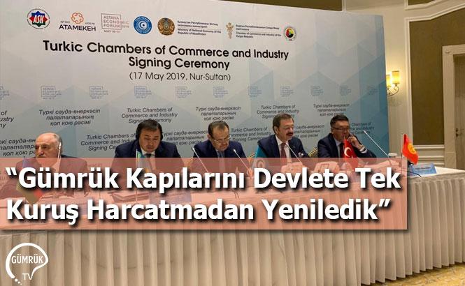 """""""Gümrük Kapılarını Devlete Tek Kuruş Harcatmadan Yeniledik"""""""