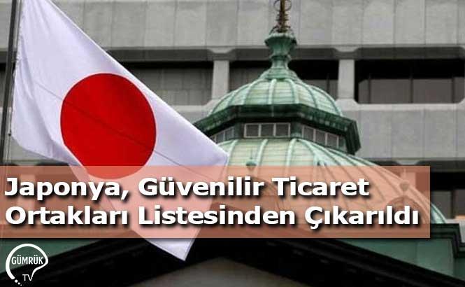 Japonya, Güvenilir Ticaret Ortakları Listesinden Çıkarıldı