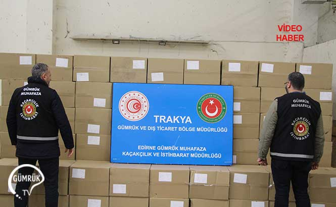 Kapıkule'de 4.5 Milyon Adet Kaçak Makaron