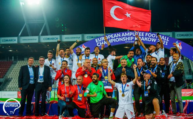 Ampute Futbol Milli Takımı İkinci Kez Avrupa Şampiyonu Oldu
