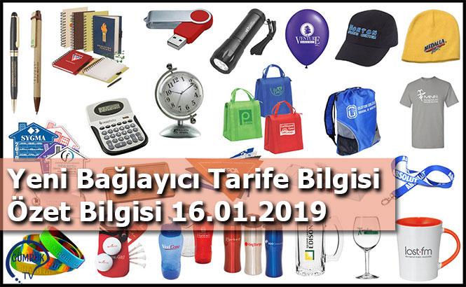 Yeni Bağlayıcı Tarife Bilgisi Özet Bilgisi 16.01.2019
