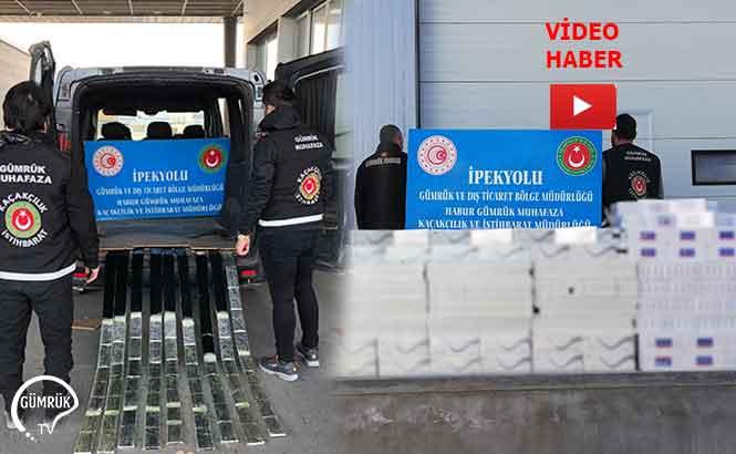 Habur'da 29 Bin Paket Kaçak Sigara ve Yüzlerce Cep Telefonu Ele Geçirildi