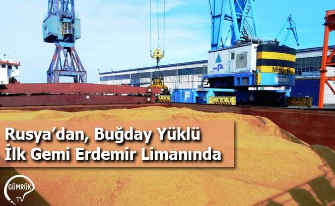 Rusya'dan, Buğday Yüklü İlk Gemi Erdemir Limanında