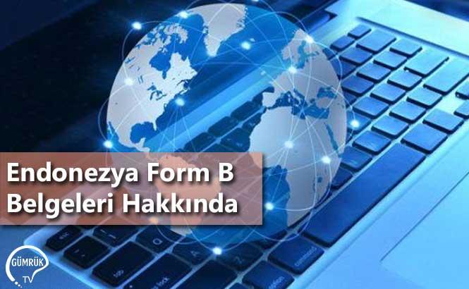 Endonezya Form B Belgeleri Hakkında