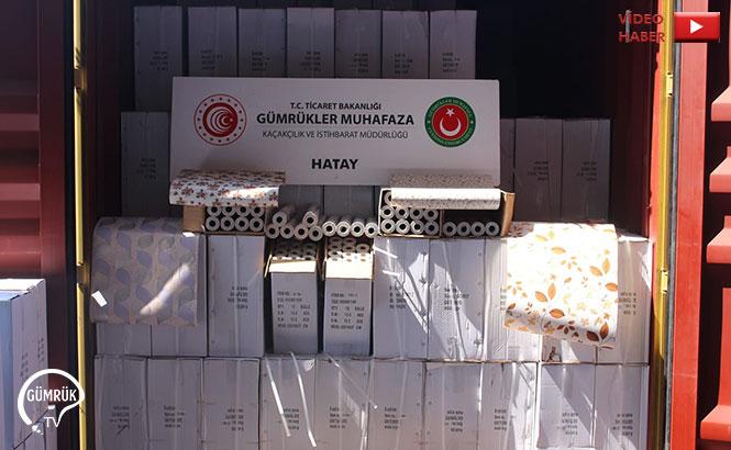 Hatay'da 12,5 Milyon Liralık Kaçak Ürün Ele Geçirildi