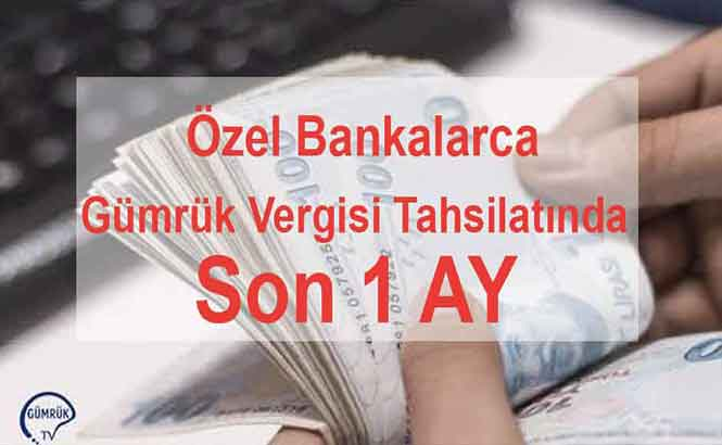 Özel Bankaların Vergi Ödemesi Protokollerinin Feshi