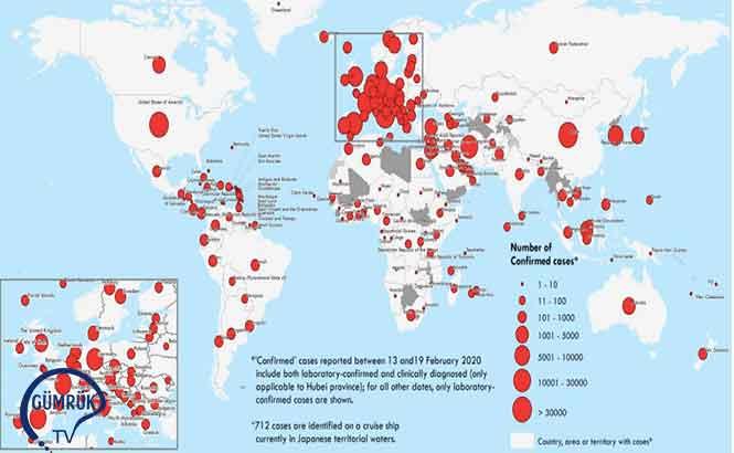 Dünya Sağlık Örgütü 23 Mart COVID-19 Verileri