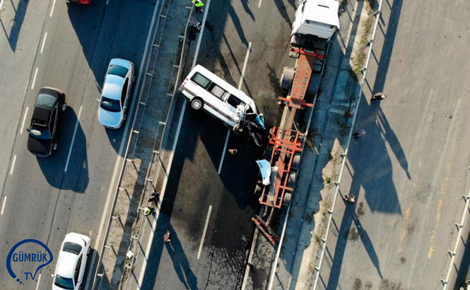 Ambarlı Liman Yolunda Kaza! Liman Yolu Trafiğe Kapatıldı