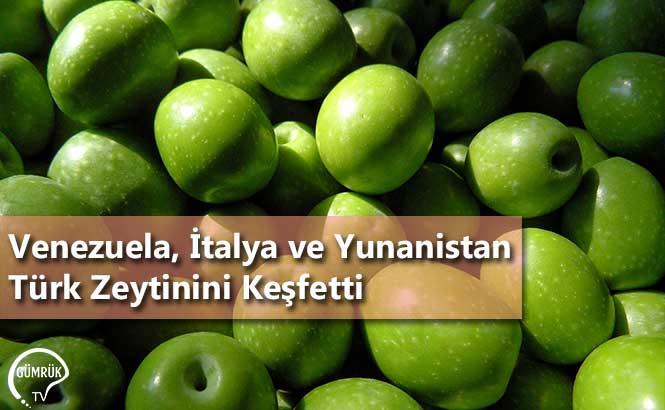Venezuela, İtalya ve Yunanistan Türk Zeytinini Keşfetti