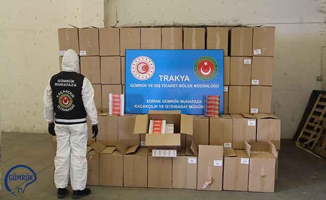 Kapıkule'de 3 Milyon 270 Bin Adet  Makaron Yakalandı