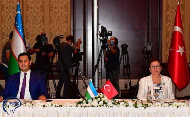 Ticaret Bakanı Pekcan Özbekistanlı Yetkililerle Bir Araya Geldi