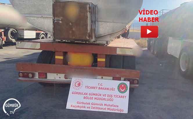 Gürbulak'ta 591 Tonluk Kaçak Akaryakıt Operasyonu