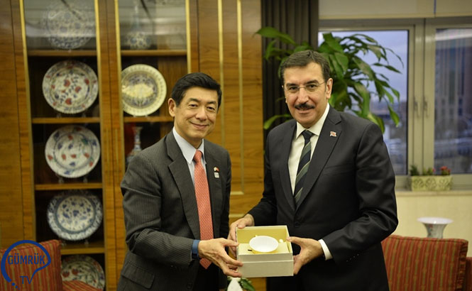 Bakan Tüfenkci, Japonya Ankara Büyükelçisi Miyajima'yı Kabul Etti