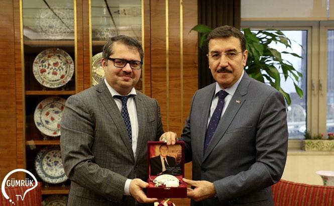 Bakan Tüfenkci, Azerbaycan Büyükelçisi İle Gümrük İdarelerini Konuştu