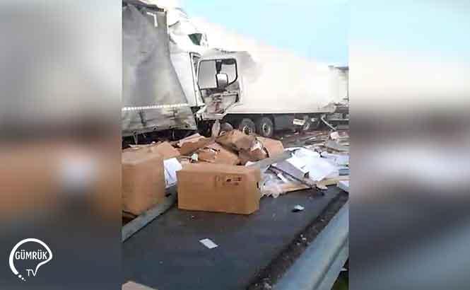 Bulgaristan Haskovo Geçişinde TIR kazası